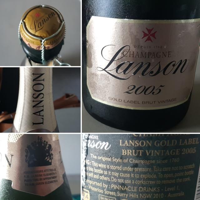 Lanson Gold Label 2005 Vintage Champagne
